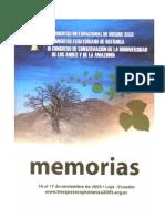 Congreso de Conservacion de La Biodiversidad de Los Andes y de La Amazonia