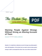 Warning People Against Wrongs Without Giving an Alluring Account of Them