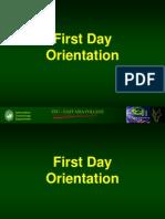 First Day Orientation