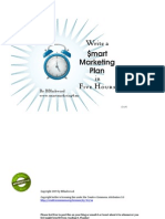 Write a Marketing Plan In Five Hours