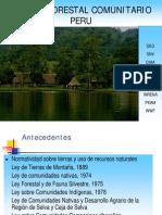 Manejo Forestal Comunitario Amazonas Peru