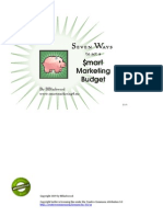 Seven Ways To Set A Smart Marketing Budget