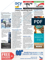 Pharmacy Daily for Fri 02 Aug 2013 - Pharmacy smoking push, Terry White diabetes, Adverse events online, ACT PSOTY winner and much more