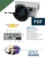 Dukane 8763 Projector