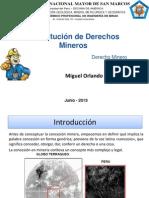 Constitución de Derechos Mineros