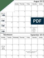 Team Calendars 2013
