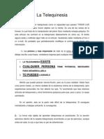 05-La Telequinesia, advertencias y nociones básicas