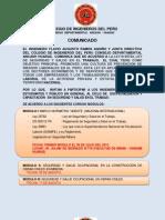 COMUNICADO DE ESPECIALIZACIÓN EN SEGURIDAD