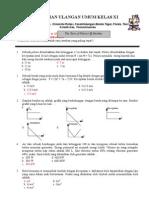 Soal latihan Ulangan Umum Fisika kelas XI