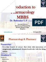 MBBS Introduction to Pharmacology