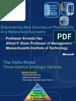 Sesión 8 - Delta Model - New Sources of Profitability - Prof Arnoldo Hax