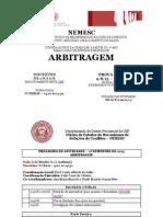 Edital NEMESC Arbitragem 2013