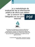 Criterios y Metodologia Evaluacion2012