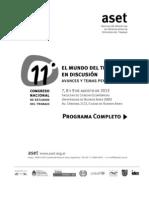 11 Congreso ASET_Programa Completo