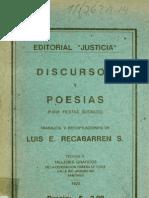 Discursos y Poesias Para Fiestas Sociales