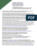 "Robert Douglas ""Dutch"" Moyer's    Business Management / Sales Resume"