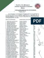 PRBRES Resolution 1-2012
