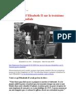 1 août 2013 - AU CAS OÙ –  Le discours d'Elisabeth II sur le troisième guerre mondiale