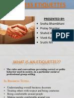 Business Etiquette Final Ppt