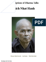 Transcriptions of Dharma Talks of Master  Thich Nhat Hanh