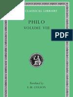 Philo VIII (Loeb Classical Library)
