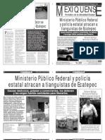 Versión impresa del periódico El mexiquense  2 agosto 2013