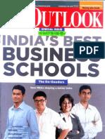 Outlook MDRA B School Ranking 2011