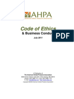 Code of Ethics and Business Conduct - AHPA 2011