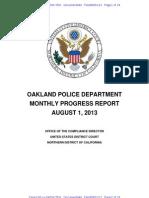 Opd Progress Report