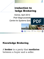 Introduction to Knowledge Brokering