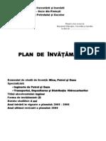 Plan Invatamant Inginerie de Petrol Si Gaze