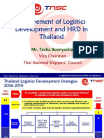 Achievement of Logistics Dev & Hrd in Thailand Techa