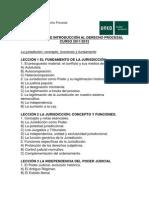 Introduccion Al Derecho Procesal - Programa