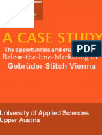 A case study on the opportunities and challenges in below-the-line-marketing of