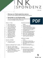 2012 Netzpolitik Ist Nicht Medienpolitik Funkkorrespondenz