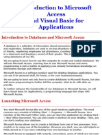 Access and VBA Tutorial