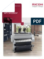 Midshire Business Systems - Ricoh MP CW2200SP - A0 Wide Format Colour Brochure