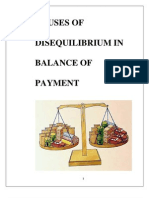 127758403 Causes of Disequilibrium in Balance of Paymentcauses of Disequilibrium in Balance of Payment