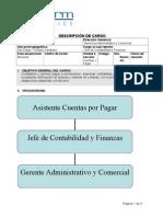 DESCRIPCIÓN DEL CARGO ASISTENTE CUENTAS POR PAGAR VALIDADA
