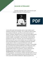 Educando al educador. Jiddu Krishnamurti en español