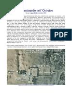 Diario di una visita ad Abydos e all'Osireion