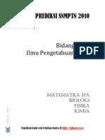 Prediksi SNMPTN 2010 IPA