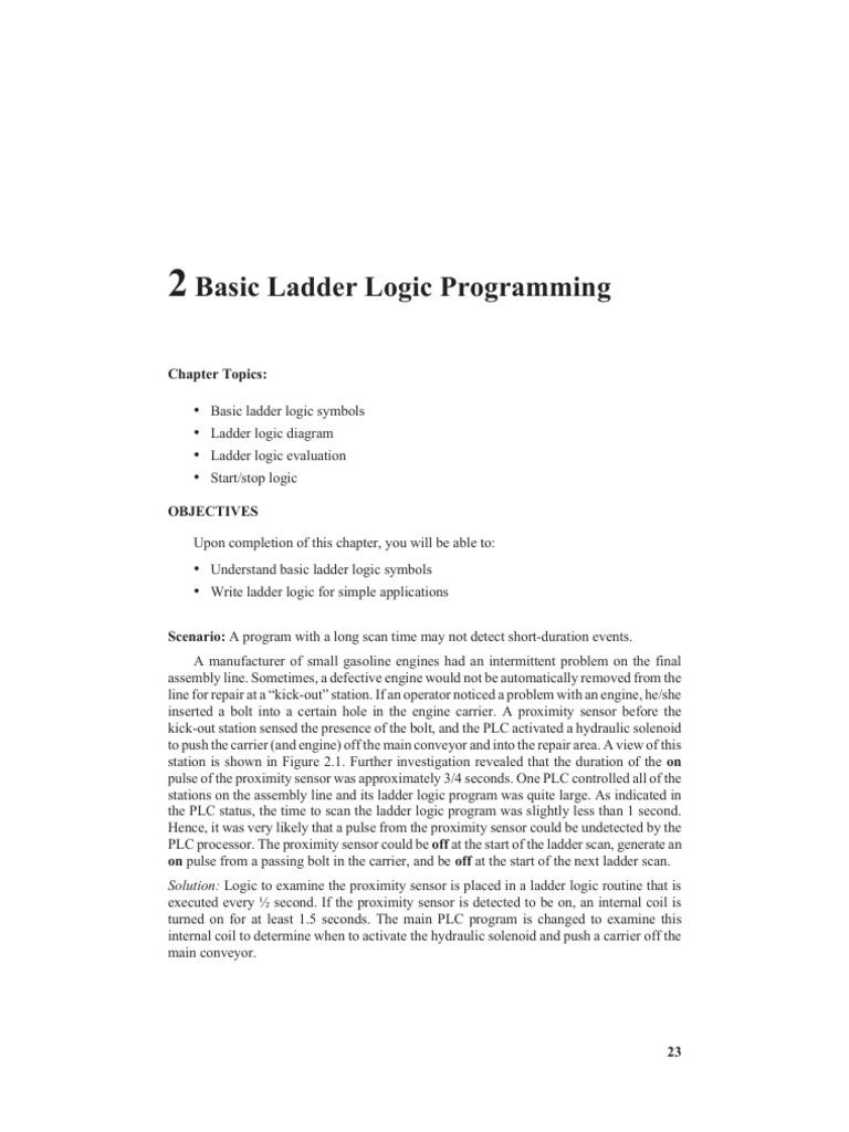 basic ladder logic programming programmable logic controller relay rh scribd com Relay Logic Motor Control Relay Logic Motor Control