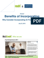 Webinar on Benefits of Incorprating of Small Business Loans