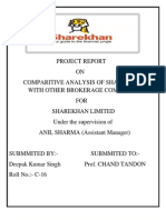 project on comparison between different broking firms