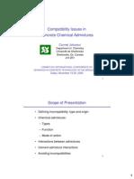 Jolicocoeur Presentation - Admixture Compatibility Issues