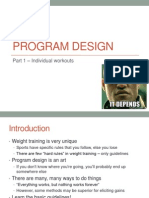 Lecture 8 - Resistance Training Program Design Part 1