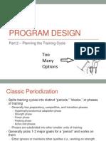 Lecture 9 - Resistance Training Program Design Part 2 Training Cycle