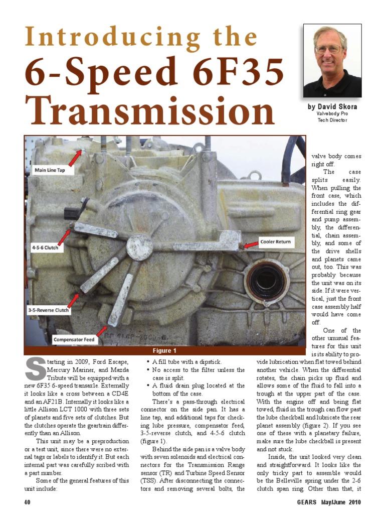 Enjoyable 6F35 Gearspdf Transmission Mechanics Clutch Wiring Database Lukepterrageneticorg