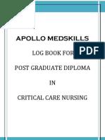 Critical Care Log Book
